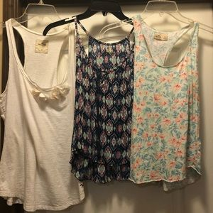 3 Hollister Tanks